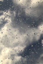 Water droplets, glass surface iPhone wallpaper