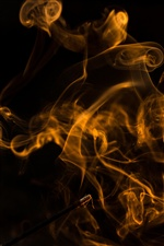 Yellow abstract smoke iPhone Wallpaper