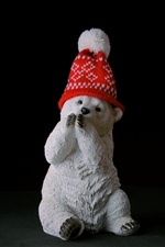 Bear statue, hat iPhone wallpaper
