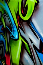 Colorful painting, graffiti iPhone wallpaper