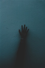 Hand, wall, darkness iPhone Wallpaper